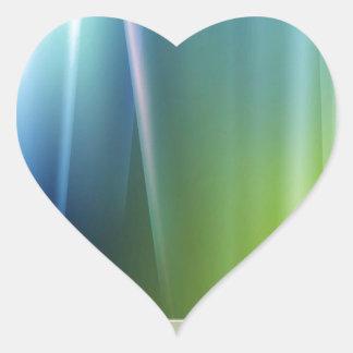 Abstract Colors Aurora Celeb Heart Sticker