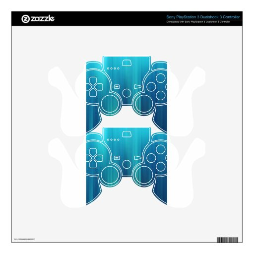 Abstract Colors Blu Bottles PS3 Controller Decal