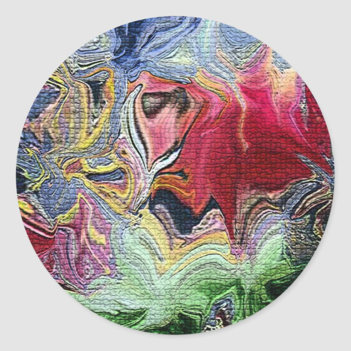 Abstract colors classic round sticker