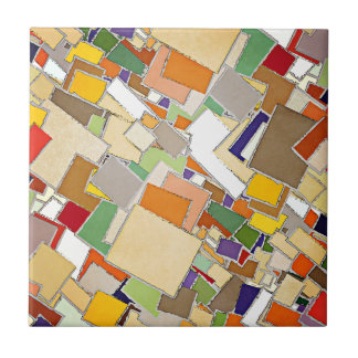 Abstract Colors Composition Small Square Tile