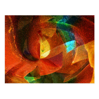 Abstract Colors Customizable Products Postcard