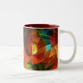 Abstract Colors Customizable Products Two-Tone Coffee Mug