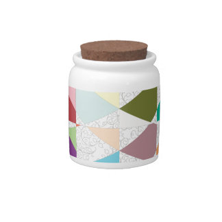 Abstract Colors Damask Candy Dish
