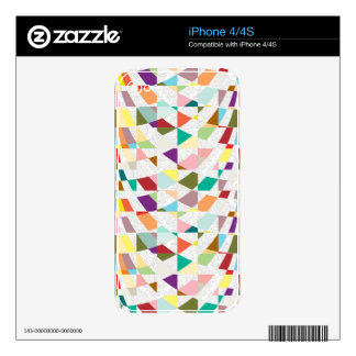Abstract Colors Damask Decal For iPhone 4S