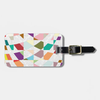 Abstract Colors Damask Bag Tag