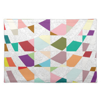 Abstract Colors Damask Cloth Placemat
