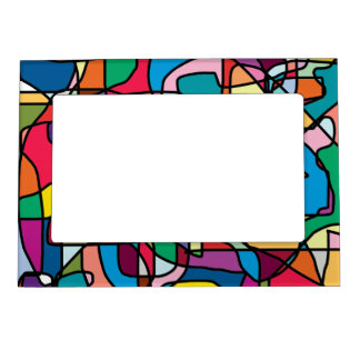 Abstract Colors Doodle 5x7 Magnetic Frame