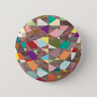 Abstract Colors Glitter Button