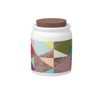 Abstract Colors Glitter Candy Jar