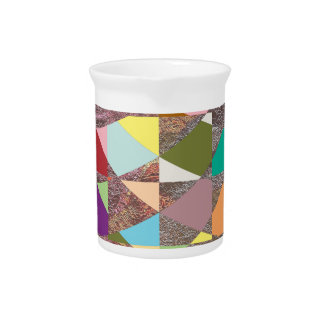 Abstract Colors Glitter Drink Pitcher