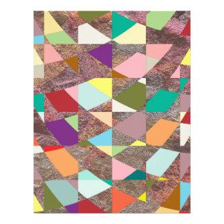 Abstract Colors Glitter Scrapbook Paper Letterhead