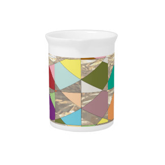 Abstract Colors Gold Beverage Pitcher