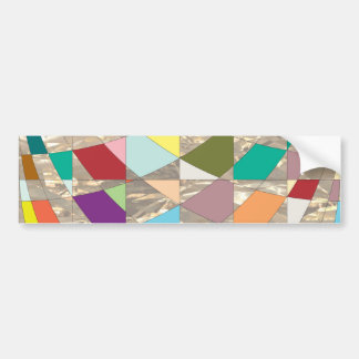 Abstract Colors Gold Bumper Sticker