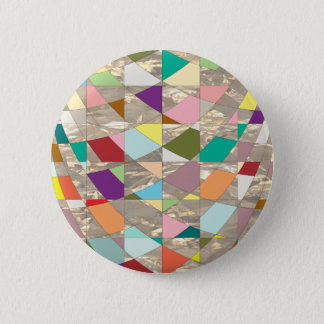 Abstract Colors Gold Button