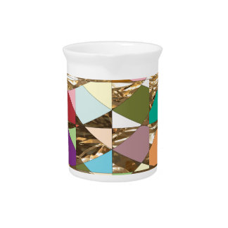 Abstract Colors Gold Foil Beverage Pitcher