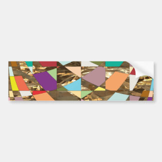 Abstract Colors Gold Foil Bumper Sticker