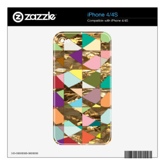 Abstract Colors Gold Foil iPhone 4 Decal