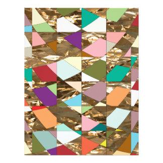 Abstract Colors Gold Foil Scrapbook Paper Letterhead