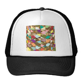 Abstract Colors Gold Foil Trucker Hat