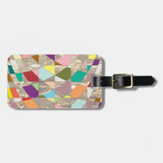 Abstract Colors Gold Tags For Luggage