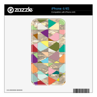 Abstract Colors Gold Skins For iPhone 4