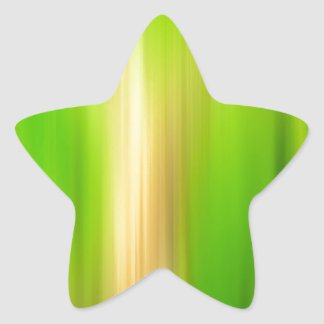 Abstract Colors Greener Side Star Sticker