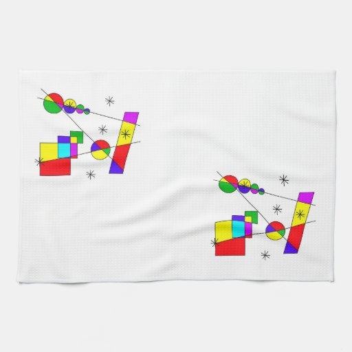 Abstract colors hand towel