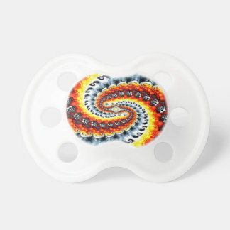 Abstract Colors Heat Sink Spin Baby Pacifier