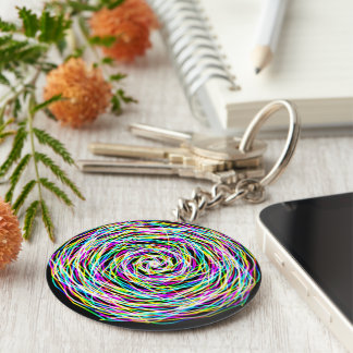 Abstract colors keychain