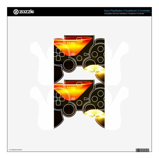 Abstract Colors Lamp Brights PS3 Controller Decals
