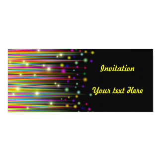 Abstract Colors Lights & Stripes Invitation