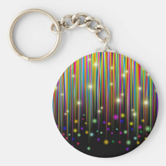 Abstract Colors Lights & Stripes Keychain