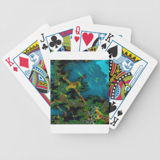 Abstract Colors Misty Forest Deck Of Cards