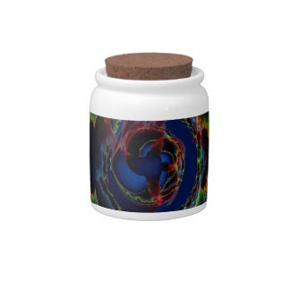 Abstract Colors Outer Limits Candy Jars