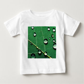 abstract colors raindrops on a fallen leaf.jpg baby T-Shirt