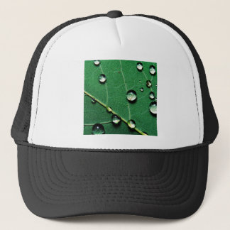 abstract colors raindrops on a fallen leaf.jpg trucker hat