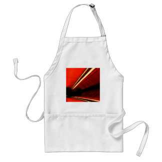 Abstract Colors Red Subway Stretch Apron