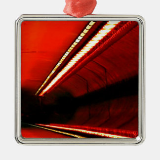 Abstract Colors Red Subway Stretch Ornament