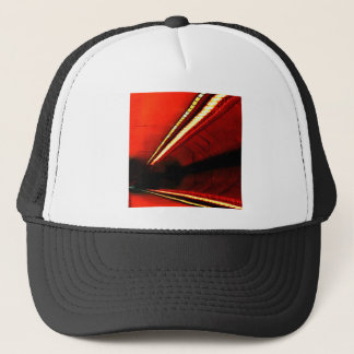 Abstract Colors Red Subway Stretch Trucker Hat