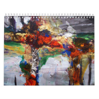 """""""Abstract Colors"""" reproduction art on a calendar"""