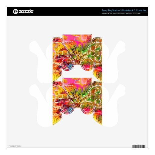 Abstract Colors Rock Canyon PS3 Controller Skin