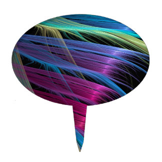 Abstract Colors Satin Ends Cake Pick