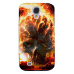 Abstract Colors Skull From Hell Samsung Galaxy S4 Covers