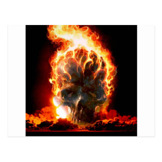 Abstract Colors Skull From Hell Postcard