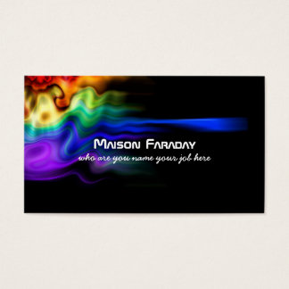 abstract colors splash business card