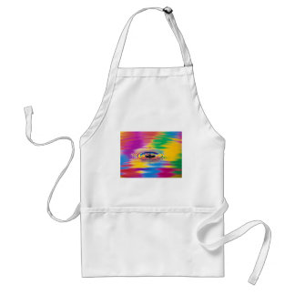 abstract colors splash of color adult apron
