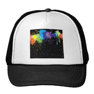 Abstract Colors Splash Paints Trucker Hat