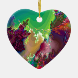Abstract Colors Star Nurseries Ceramic Ornament