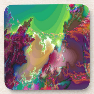 Abstract Colors Star Nurseries Coaster