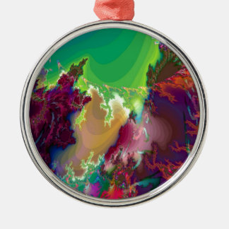 Abstract Colors Star Nurseries Metal Ornament